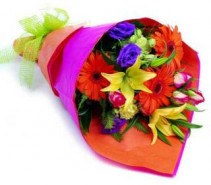 Cut Flowers Bouquet A variety of Beautiful Mixed Colourful Fresh Flowers