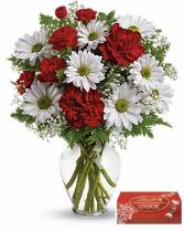 Cute As A Button /Valentines fresh arrangement