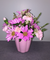 Cute Cup of Flowers Fresh Arrangement