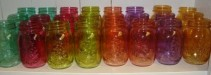 Cute mason jars to arrange flowers in!! Just pick  a price and we will fill with a bright mixture!