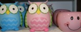 Cute owl or pink happy face containers! Pick a  price and we will fill with flowers!!