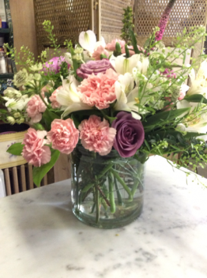 Cylinder for any reason Assorted seasonal pastels in Peconic, NY | Country Petals and Greenport Florist