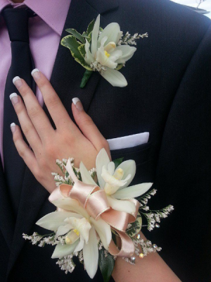 Cymbidium Orchid Corsage   in Oakville, ON | ANN'S FLOWER BOUTIQUE-Wedding & Event Florist