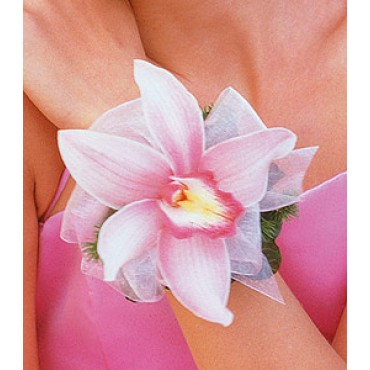 Cymbidium Orchid Corsage Available in other colors please call.