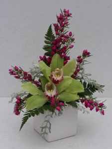 Cymbidium Orchid Cube Arrangement