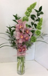 Cymbidium Orchid Cylinder Fresh flower arrangement