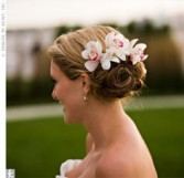 Cymbidium Orchid Hair piece