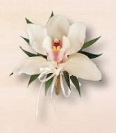 Cymbidium Orchid Pin-on Corsage