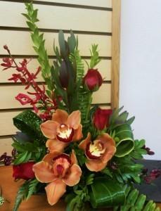 Orchid Elegance Dish Arrangement