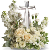 Cystal Cross Bouquet Sympathy