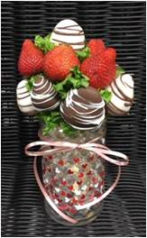 D.) Cylinder Vase Chocolate Covered Strawberries