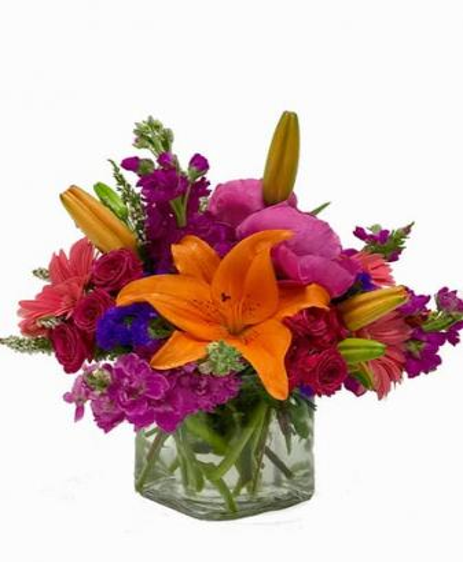 6-Red Roses vased