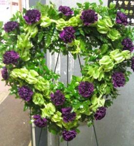 D10 open heart purple & green