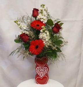 Triple the love arrangement vase arrangement