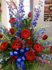 D312 masculine reds & blue