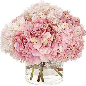 LOVELY HYDRANGEAS LOW CENTER PIECE