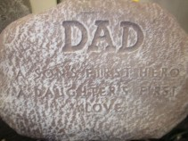 Dad Memorial Plaque on stand