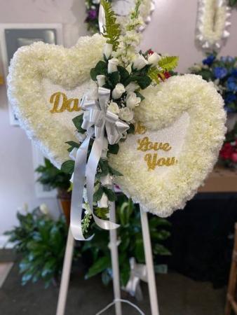 Dad We Love You Silk Funeral Arrangement