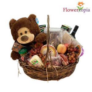 Daddy Bear Father's day Gift Basket in Miami, FL | FLOWERTOPIA