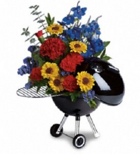 Get To Grillin' Can be designed with flowers or his favorite candy or fruits