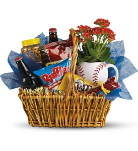 Dad's Play Baseball Basket  in Bryan, OH | Farrell's Lawn & Garden and Flowers