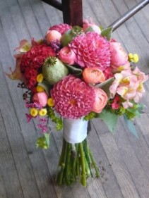 Bride Bouquet ofDahlia, Ranculus & Pod