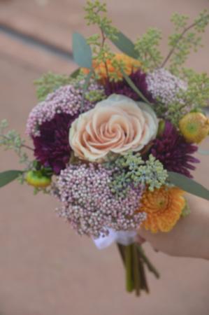 Dahlias in Love Bridesmaid Bouquet