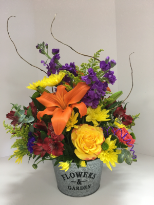 Daily Designer's Choice Flower Tin in Stuart, FL | Magnolia's Flower Shop