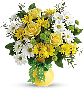 Daisies and Dots - 561 Vase Arrangement