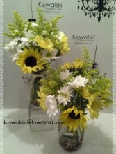 Daisies & Sunflowers Reception Centerpieces