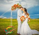 Daisy Archway & Matching Buquet Wedding