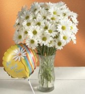 Daisy Bouquet & Get Well Balloon Vase