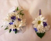 DAISY CORSAGE AND BOUTONNIERE PROM FLOWERS