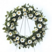 Daisy Remembrance Wreath CTT4-31 Easle