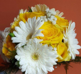 Daisy & Rose Delight Handtied Bouquet