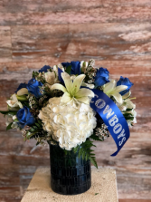Dallas Football Team Flower Arrangement Team Flower Arrangement