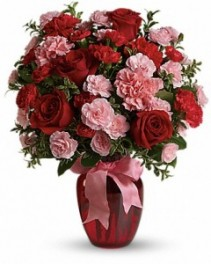 Dance with Me Bouquet with Red Roses ---