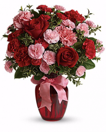 Dance with Me Bouquet with Red Roses