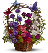 Dancing Butterflies                  TFWEB513 Basket Arrangement
