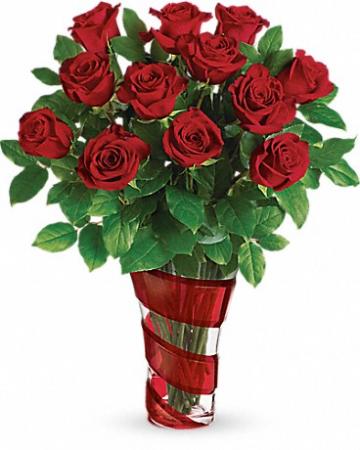 Dancing in Roses Bouquet Floral Arrangement