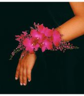 Dark Pink Dendrobiums and Heather Corsage