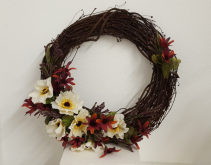 One of a Kind Dark stain wreath Silk wreath