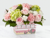 DARLING BABY GIRL BOUQUET BABY GIRL ARRANGEMENT