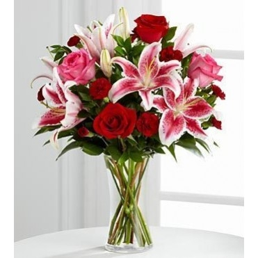 Darling Rose & Lily Bouquet Rose Arrangement