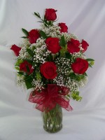 Dashing Dozen Vase Arrangement