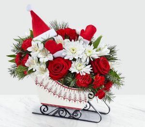 Dashing Through The Snow Bouquet in Bryan, OH | Farrell's Lawn & Garden and Flowers