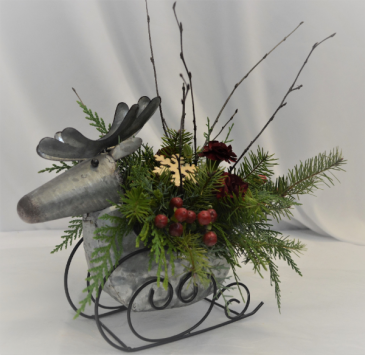 DASHING THROUGH THE SNOW FRESH FLOWER ARRANGEMENT