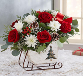 Dashing Through the Snow Sleigh™ Red Arrangement
