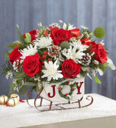 Dashing Through The Snow Sleigh Christmas Arrangement
