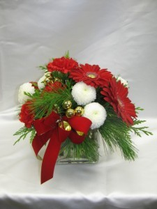 Dashing through the Snow vase arrangement